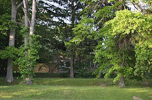 National Register of Historic Places listings in Portage County, Ohio - Image: Horace Y. Beebe House through the trees