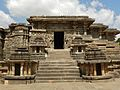 Hoysaleshvara temple back entrance, Halebid.jpg