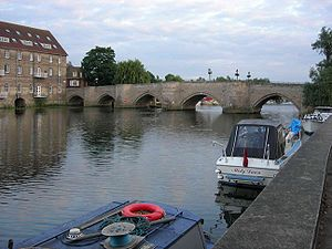 Huntingdon - The Old Bridge across the Great Ouse, to Godmanchester.