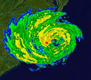 Effects of Hurricane Isabel in North Carolina - Radar image of Isabel making landfall