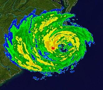 Effects of Hurricane Isabel in North Carolina - Radar image of Isabel making landfall