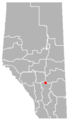 Huxley, Alberta Location.png