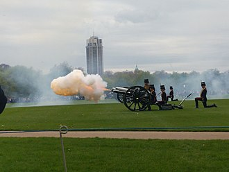 Prince Louis of Cambridge - The Gun Salute in Hyde Park, London to mark the birth of Louis