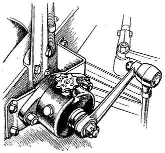 Lever arm shock absorber - Rotary vane shock absorber, 1935