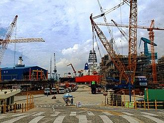Hyundai Heavy Industries - Hyundai Heavy Industries ship yard, South Korea