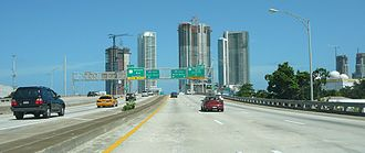 Florida State Road 836 - I-395 spur heading east past Downtown Miami