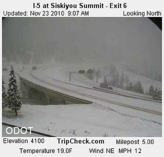 Siskiyou Summit - Image: I 5 Siskiyou Pass (5202124186)