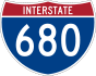 Interstate 680 marker