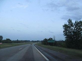 Interstate 69 in Michigan - Image: I 69 exit 70 MI