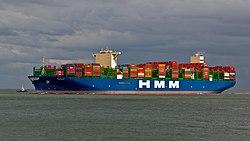 Die HMM Oslo am 5. Juli 2020 vor Cuxhaven