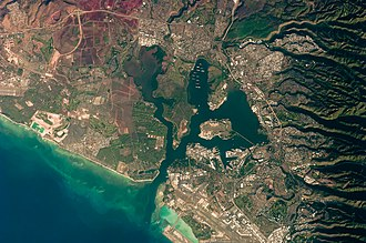 Pearl Harbor - Astronaut photograph of Pearl Harbor from October 2009