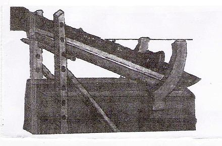 A picture of a 15th-century Granadian cannon from the book Al-izz wal rifa'a. Ibn Ghanims gun.jpg