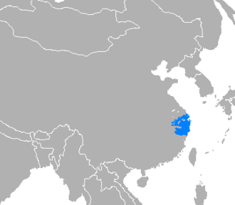 Wu (region) - Wu-speaking region