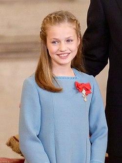 La princesse Leonor en 2018.