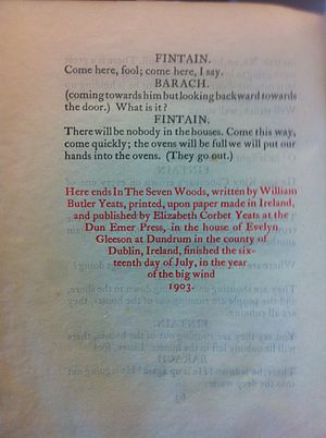 In the Seven Woods - Colophon, In The Seven Woods (limited first edition)