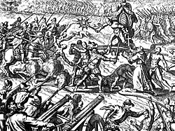 Emperor Atahuallpa during the Battle of Cajamarca