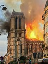 Notre Dame's roof burns