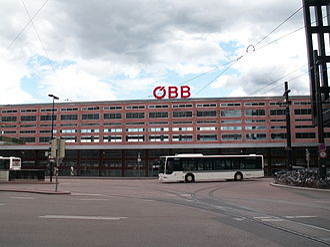 Innsbruck Hauptbahnhof - The present station building.