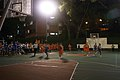 Inter-hall night basketball game at Raffles Hall, National University of Singapore - 20070116.jpg
