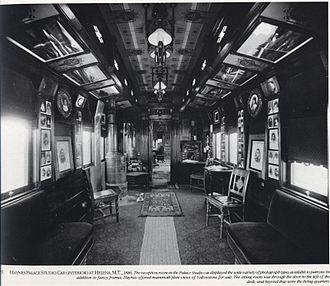 Frank Jay Haynes - Interior of Haynes Palace Studio Car, 1886