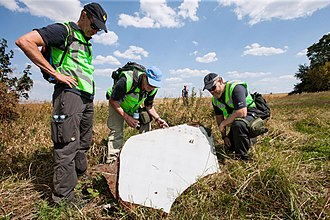 Malaysia Airlines Flight 17 - Dutch and Australian police at the crash site on 3 August 2014