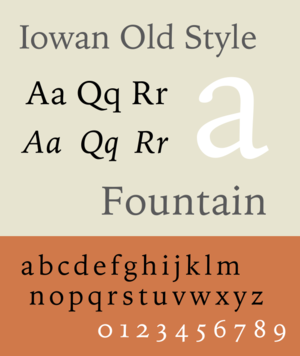 Iowan Old Style - Image: Iowan Old Style sample image