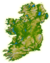 Topographic map of Ireland