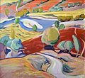 Irina Azizyan Areni The landscape with a rice field 1965.jpg