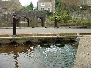 Low-water crossing - Low-water crossing at Chew Stoke