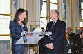 Isabelle Gallimard et Frédéric Mitterrand, ministre de la Culture..jpg