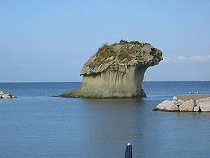 Lacco Ameno - The Fungo (mushroom) sea rock.