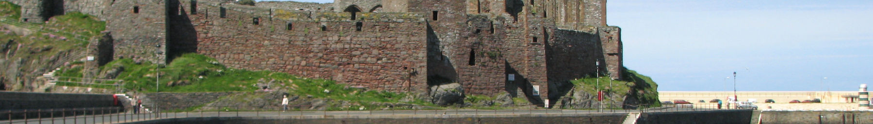 Isle of man banner Peel castle.jpg
