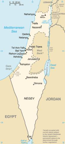 Israele Cartina Politica Oggi.Geografia Di Israele Wikipedia