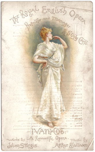 Palace Theatre, London - Ivanhoe programme cover from the theatre's first night