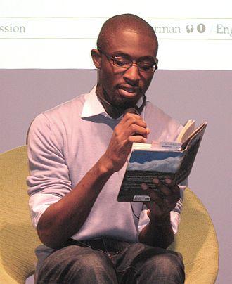 Uzodinma Iweala - Uzodinma Iweala during a public reading at the Frankfurt Book Fair on 10/17/2008