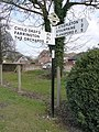 Iwerne Courtney, finger-post in Main Street - geograph.org.uk - 1752188.jpg