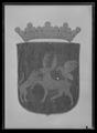 Jämtlands vapen, broderat för hästtäcke buret vid Karl X Gustavs begravning den 4 november 1660 - Livrustkammaren - 69022.tif