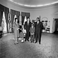 JFK with Evers family.jpg