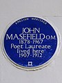 JOHN MASEFIELD O.M. 1878-1967 Poet Laureate lived here 1907-1912.jpg