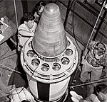 JPL testing a heat shield for reentering missile warheads.jpg