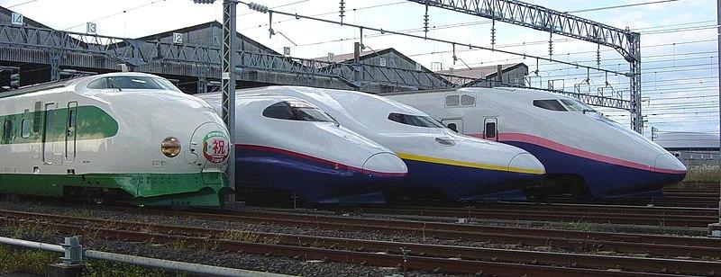 Tập tin:JR East Shinkansen lineup 200 E2 E4 E1 Niigata Depot  20071100.JPG