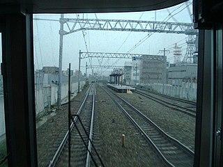 Sakura Shukugawa Station Railway station in Nishinomiya, Hyōgo Prefecture, Japan