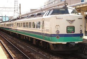 Minori (train) - 485 series EMU on a Minori service