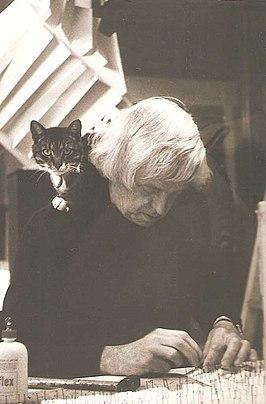 Jaap Egmond in zijn atelier
