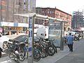 Jackson Av bike parking at Pulaski jeh.JPG