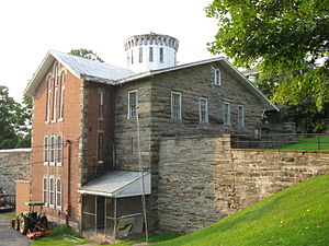 Susquehanna County Courthouse Complex - Image: Jail of 1867 1868 Susquehanna County Courthouse Complex Montrose PA Aug 09