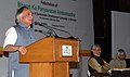 Jairam Ramesh addressing the facilitation ceremony of former President, Dr. A.P.J. Abdul Kalam as Bharat ka Paryavaran Ambassador, in New Delhi on December 09, 2009.jpg