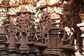 Jaisalmer-06-Shikhara of Jain temple of Aranath-Embraced couples and Tîrthankaras-20131010.jpg