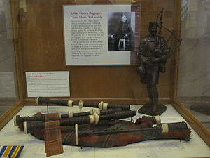 James Cleland Richardson - Image: James C Richardson's Bagpipes BC Legislature