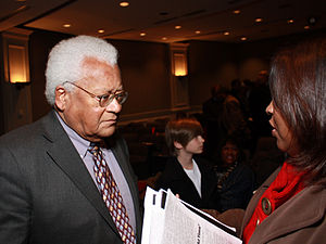 James Lawson (activist) - Lawson in 2010 talking with an audience member following a panel discussion on the Nashville sit-ins